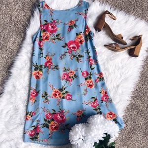 Beach Lunch Lounge Floral Shift Dress